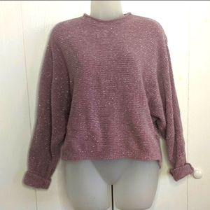 Rue21 oversized cropped sparkle sweater M